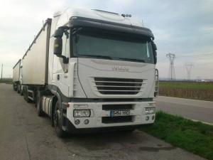 Camioane abandonate in Italia