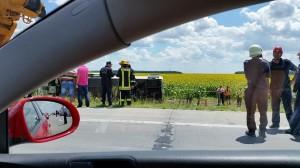 Accident de autocar pe Autostrada Soarelui, iulie 2014