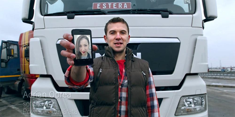 Adrian Oprea, soferul de TIR din reclama Vodafone